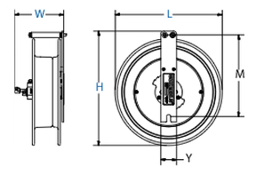 Dimensions for SW Series Spring Driven Reels from Coxreels